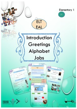 ESL-EAL Introduction booklet for complete beginners
