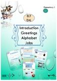 ESL EAL alphabet greetings and jobs printable worksheets