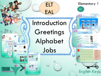 ESL EAL alphabet greetings printables and interactive activities