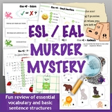 ESL / EAL Murder Mystery Activity - Fun Review of Key Voca