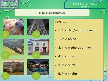 ESL/EAL  Home, Places and accommodation, Unit 3 lesson 1 full lesson beginners