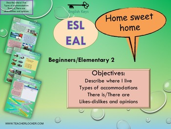 ESL/EAL  Home, Places and accommodation, Unit 3 lesson 1 f