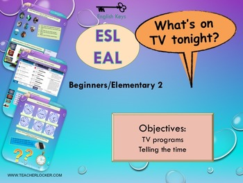 ESL EAL Telling the time - TV - hobbies and freetime activities