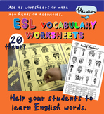 ESL/ EAL Thematic Vocabulary Worksheets