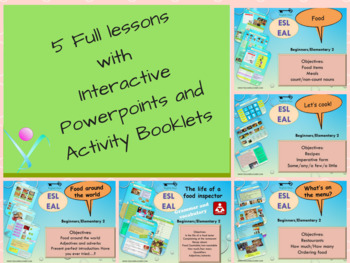 ESL EAL bundle Food, how much-many, ordering food, opinions, quantifiers