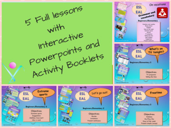 ESL/EAL bundle hobbies freetime full lessons