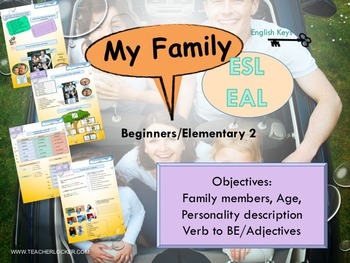 ESL/EAL my life (family, age, personality) Unit 2 lesson 1 full lesson beginners