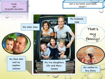 ESL EAL family, age, personality printable and interactive activities