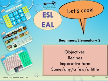 Esl eal food some any a few food recipes ingredients cooking verbs forumfinder Images