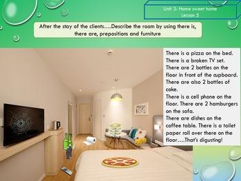 ESL EAL Grammar and vocabulary : house - places - prepositions - description