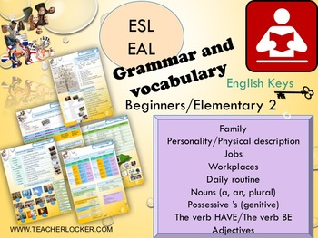 ESL EAL Grammar and vocabulary possessive's, jobs, physical description, family