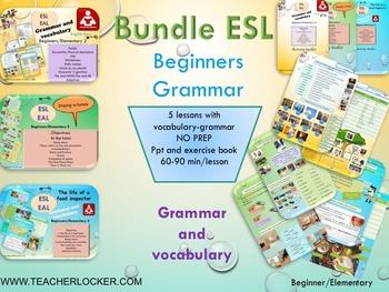ESL EAL grammar bundle beginners ppt NO PREP