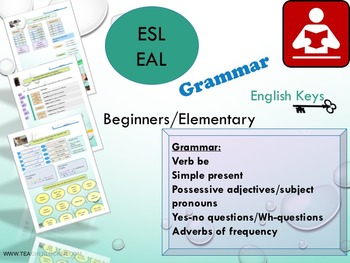 ESL EAL Grammar: BE, simple present, possessive adjectives, questions, adverbs