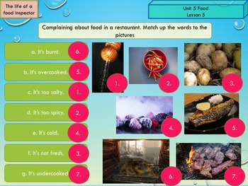 ESL EAL Grammar and vocabulary: food, quantifiers, countable and non-countable