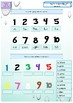 ESL EAL introductory lesson numbers and colors printable activities