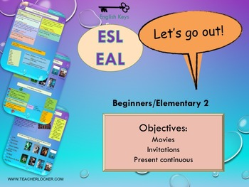 ESL EAL Freetime (movie-present continuous) Unit 4 lesson 3 full lesson beginner