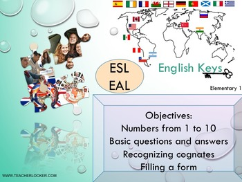 ESL EAL introduction, numbers 1-100 - to be, Unit 1 lesson 2 PPT for beginners