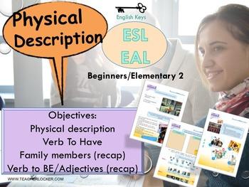 ESL/EAL my life (physical description) Unit 2 lesson 2 full lesson beginners