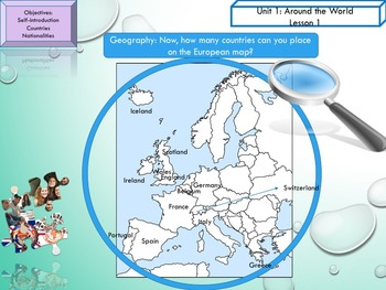 ESL EAL introduction, countries-nationalities Unit 1 lesson 1 PPT beginners