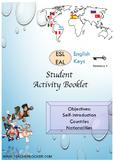 ESL EAL introduction, countries-nationalities, greetings printable activities
