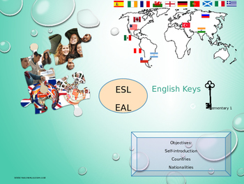 ESL EAL introduction, countries and nationalities freebie