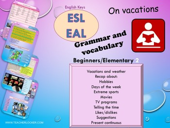 ESL EAL Grammar and vocabulary: days, hobbies, sports, likes, present continuous