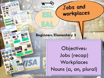 ESL/EAL my life (workplaces) Unit 2 lesson 4 full lesson beginners