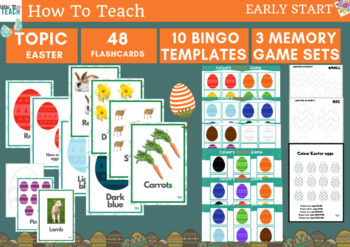 EASTER- ESL worksheets for YOUNG LEARNERS - Bingo and memory games
