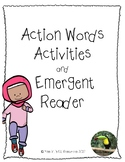 ESL/EFL Action Words activities and emergent reader