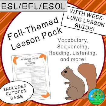 ESL EFL ESOL Fall Themed Lesson Pack