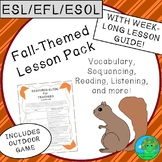 ESL EFL ESOL Fall Themed Lesson Pack
