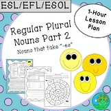 ESL EFL ESOL Regular Plural Nouns Part 2 One-Hour Lesson Plan