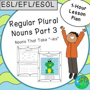 ESL EFL ESOL Regular Plural Nouns Part 3 One-Hour Lesson Plan