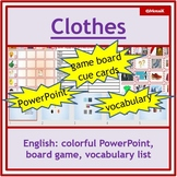 ESL EFL English - clothes: dice game to practise speaking