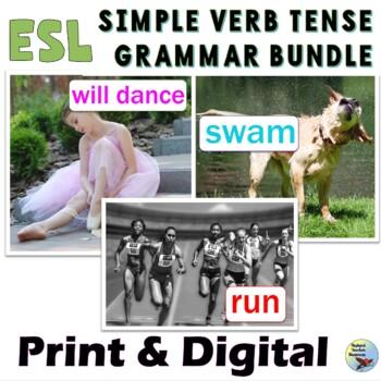 English Grammar Verbs Bundle Present Past Future Tense ESL EFL