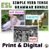 English Grammar Verbs Bundle Present Past Future Tense ESL EFL