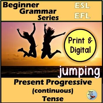 ESL EFL Grammar: Present Progressive Present Continuous Ve