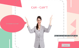 ESL / EFL Grammar Quiz: Can / Can't