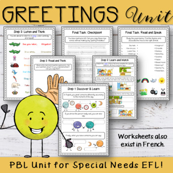 ESL-EFL Greetings - Hello and Goodbye Worksheets