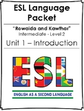 ESL / EFL Language Packet - INTRODUCTION - NO PREP