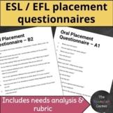 ESL/EFL placement tests & needs analysis