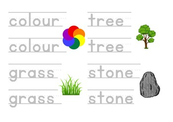ESL, EFL printable worksheets, Letter tracing, Writing - ZOO Animals for Kids