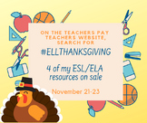 ESL/ELA SALE November 21-23 2018