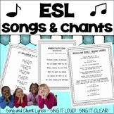 ESL & ELD Songs and Chants Volume I