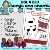 English as a Second Language ESL & ELD Songs and Chants Vo