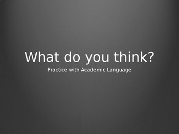 ESL / ELL Academic Language Use for Class Discussion