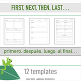 Sheltered Instruction First, Next, Then, Last Sequencing Templates