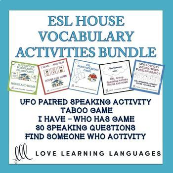 ESL - ELL Bundled Speaking Activities and Games - House and Home Vocabulary