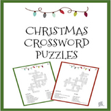 ESL - ELL Christmas Crossword Puzzle