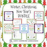 ESL - ELL Christmas, Winter and New Year's Speaking Games